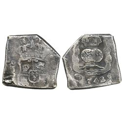 Guatemala, cob 8 reales, 1742J.