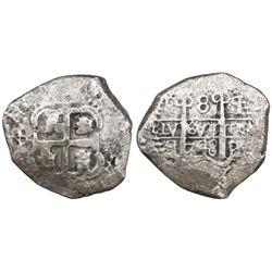 Potosi, Bolivia, cob 8 reales, 1748q, ex-Castells.
