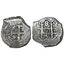 Potosi, Bolivia, cob 8 reales, 1751q, ex-Castells.