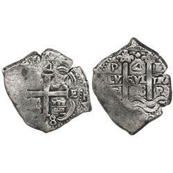 Potosi, Bolivia, cob 4 reales, 1678E.