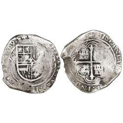 Mexico City, Mexico, cob 8 reales, 1609A, rare, ex-Sao Jose (1622).