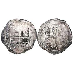 Mexico City, Mexico, cob 8 reales, 1609A, rare.