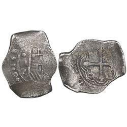Mexico City, Mexico, cob 8 reales, 1641/39P.