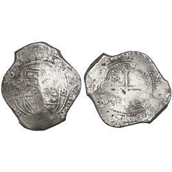 Mexico City, Mexico, cob 8 reales, (165)6P.