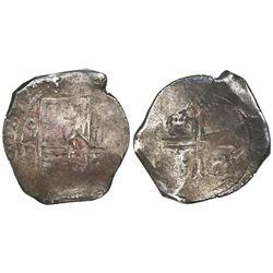 Mexico City, Mexico, cob 8 reales, 1659/8P, rare.