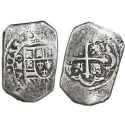Mexico City, Mexico, cob 8 reales, 1733F.