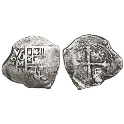 Mexico City, Mexico, cob 4 reales, 1620(D), rare, ex-Sao Jose (1622).