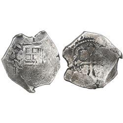 Mexico City, Mexico, cob 4 reales, 1637P, rare.