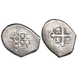 Mexico City, Mexico, cob 4 reales, 1730R, ex-Pullin.