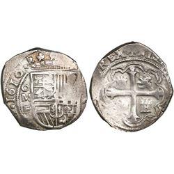 Mexico City, Mexico, cob 2 reales, 1610F, rare, ex-Pullin.