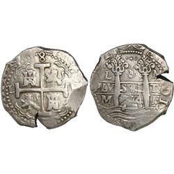 Lima, Peru, cob 8 reales, 1714/3M, rare.