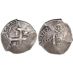 Lima, Peru, cob 8 reales, 1717(M).