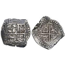 Potosi, Bolivia, cob 8 reales, (16)19T.