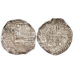 Potosi, Bolivia, cob 8 reales, (1)620T, date at 6 o'clock.