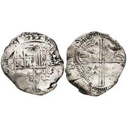 Potosi, Bolivia, cob 8 reales, (1)632T, rare.