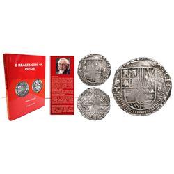 Potosi, Bolivia, cob 8 reales, 1634T, rare, first coin collected by Emilio Paoletti, ex-Burzio, ex-M