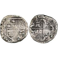 Potosi, Bolivia, cob 8 reales, (16)36TR, rare.