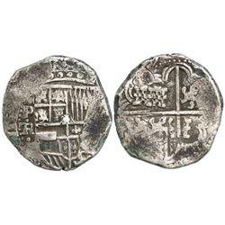 Potosi, Bolivia, cob 8 reales, (163)9TR, rare.