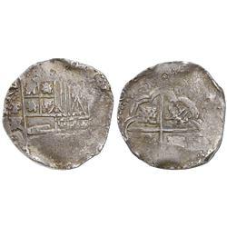 Potosi, Bolivia, cob 8 reales, Philip IV, assayer FR (early 1640s).
