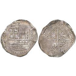 Potosi, Bolivia, cob 8 reales, (1)644FR, rare.