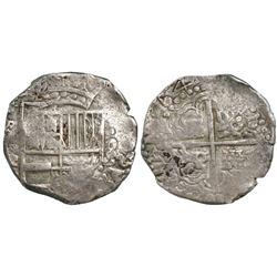 Potosi, Bolivia, cob 8 reales, 1645TR.