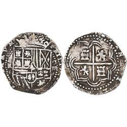 Potosi, Bolivia, cob 4 reales, Philip II, assayer RL.