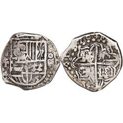 Potosi, Bolivia, cob 4 reales, 1620T, rare.