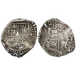 Potosi, Bolivia, cob 2 reales, 1633(T), rare.