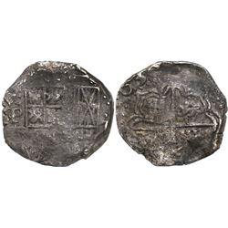 Potosi, Bolivia, cob 2 reales, 1638TR, rare.
