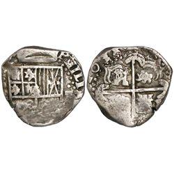 Potosi, Bolivia, cob 2 reales, 1638(TR), rare.