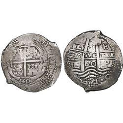 Potosi, Bolivia, cob 8 reales, 1660E, ex-Huntington.