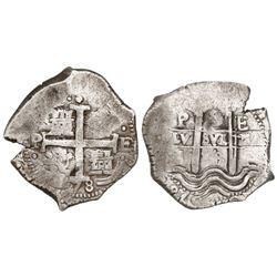 Potosi, Bolivia, cob 8 reales, 1678E.