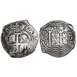 Potosi, Bolivia, cob 8 reales, 1682V, ex-Gardini.
