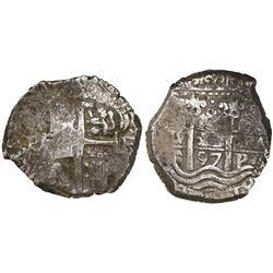 Potosi, Bolivia, cob 8 reales, 1697F.