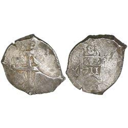 Potosi, Bolivia, cob 8 reales, 1711Y.