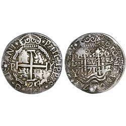 Potosi, Bolivia, cob 8 reales Royal, 1714Y, rare.