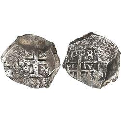 Potosi, Bolivia, cob 8 reales, 1759/8q, unique overdate.