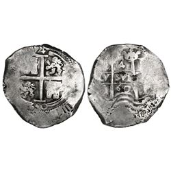 Potosi, Bolivia, cob 4 reales, 1660E.