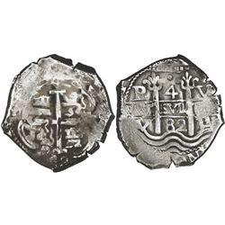 Potosi, Bolivia, cob 4 reales, 1682V.