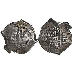 Potosi, Bolivia, cob 4 reales, 1705Y.