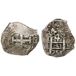 Potosi, Bolivia, cob 4 reales, 1751q/E, rare.