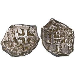 Potosi, Bolivia, cob 4 reales, 1753C/q, very rare.