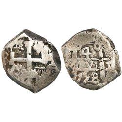 Potosi, Bolivia, cob 4 reales, 1758(q).