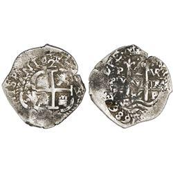 """Potosi, Bolivia, cob 2 reales, 1686VR, ex-""""Americas."""""""
