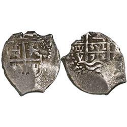 Potosi, Bolivia, cob 2 reales, 1712Y.