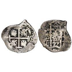 Potosi, Bolivia, cob 1 real, 1697CH, rare.
