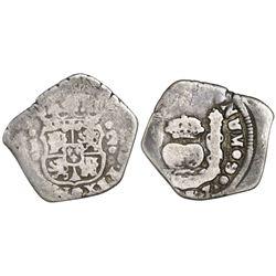 Guatemala, cob 2 reales, (17)37J.