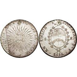 Argentina (River Plate Provinces), Potosi mint, 8 reales, 1815F, PROVICIAS error.