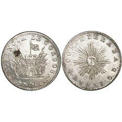 Cordoba, Argentina, 4 reales, 1851, small sunface variety.