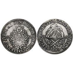 La Rioja, Argentina, 8 reales, 1839, Rosas.